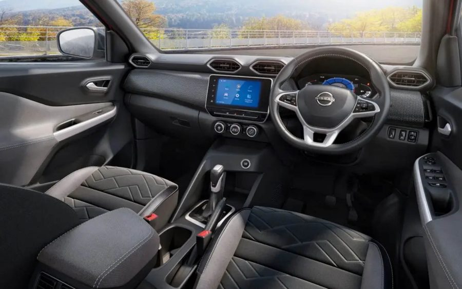 Interior do Nissan Magnite