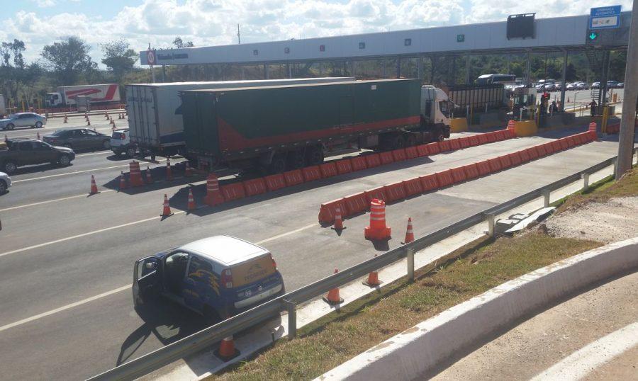 O Senado aprovou um projeto de lei que prevê a cobrança de  pedágio proporcional ao uso da rodovia / Pedágio BR-060 - Foto: Priscila Rangel/Agência Brasil
