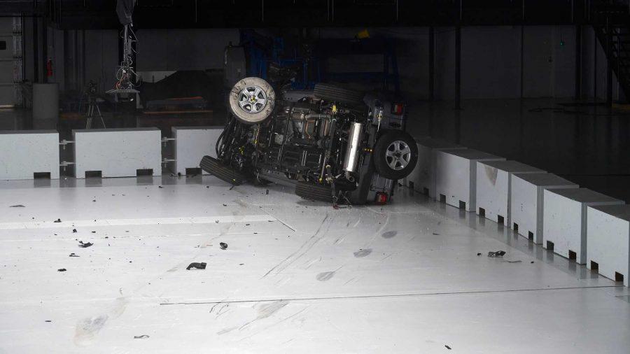 Jeep Wrangler JL - Teste de colisão