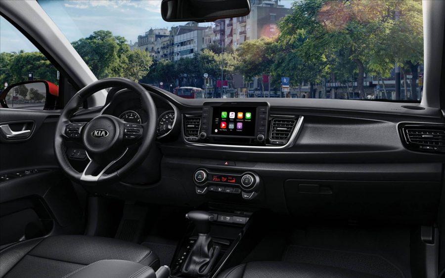 O hatchback Kia Rio possui transmissão automática de 6 velocidades, com opção de trocas sequenciais, além de mudanças suaves e precisas.