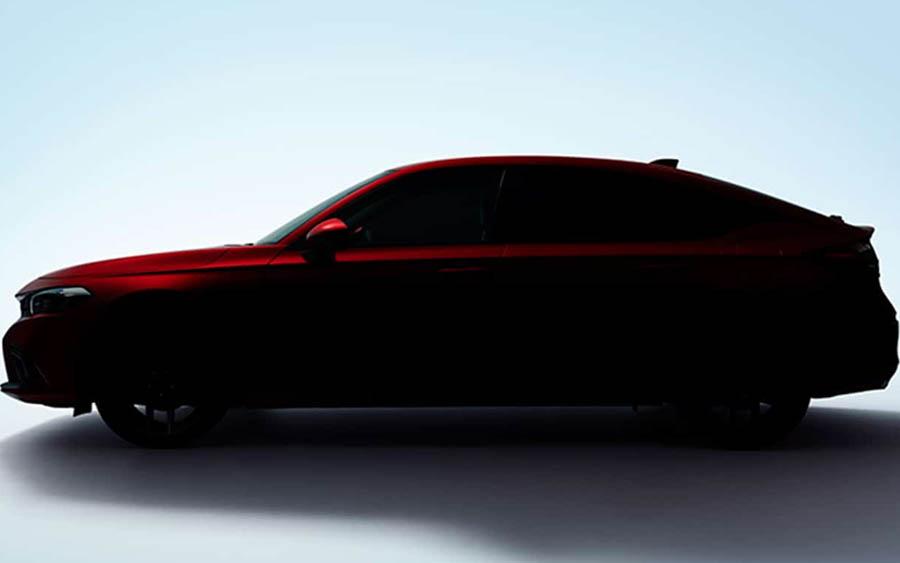 Teaser revela silhueta do novo Honda Civic   Leia mais em: https://quatrorodas.abril.com.br/noticias/novo-honda-civic-hatch-tem-imagem-vazada-com-youtuber-em-posicao-inusitada/