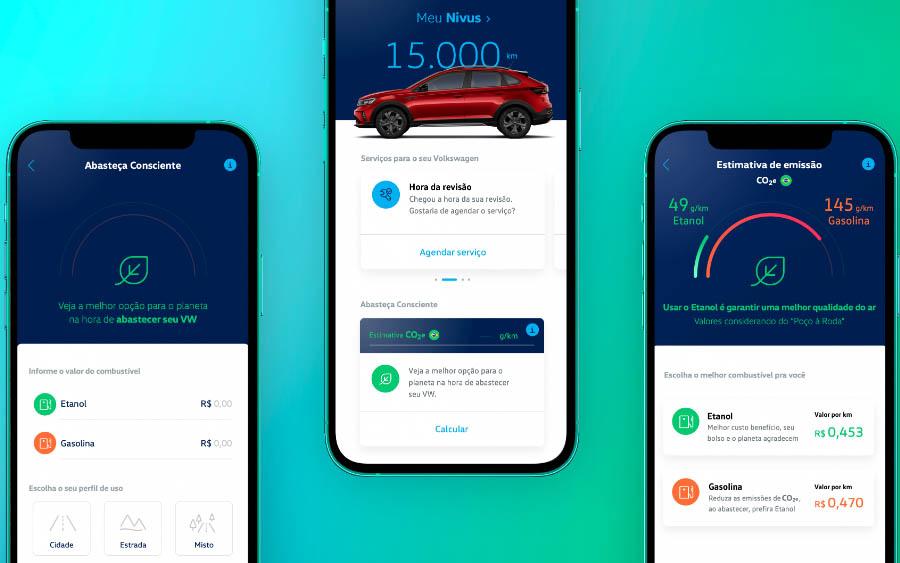 """A novidade está integrada ao aplicativo """"Meu Volkswagen"""", que já oferece uma ampla jornada digital para o cliente, que pode consultar informações de seu veículo, agendar serviços e, agora, ver qual combustível é mais vantajoso em poucos cliques."""