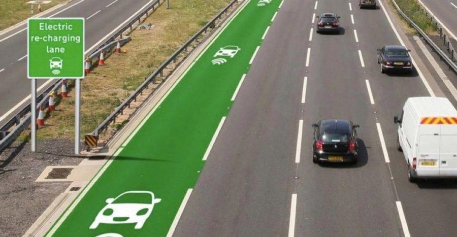 Faixa para carros elétricos