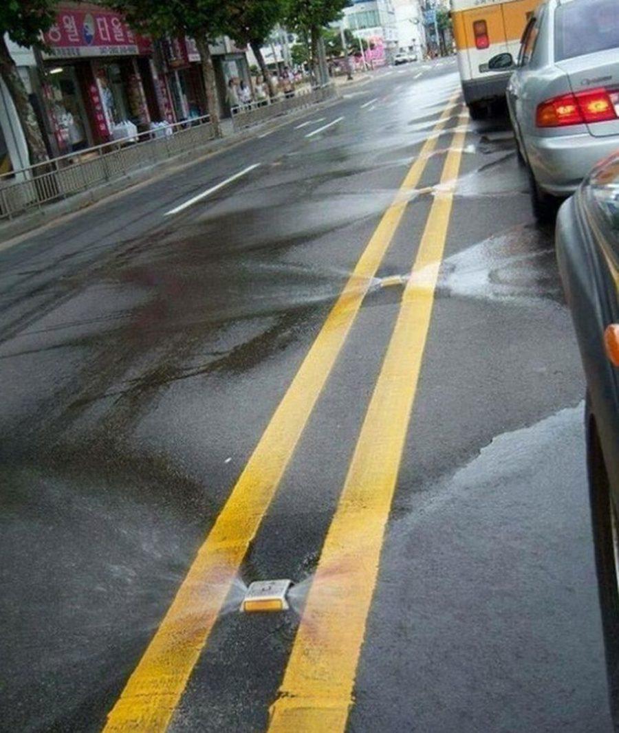 A rua que se limpa na Coreia do Sul