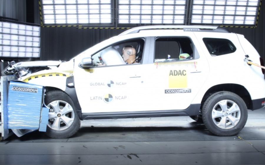 Renault Duster em teste de segurança da Latin NCAP