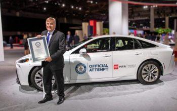 Toyota Mirai entrou para o Livro Guinness dos Recordes